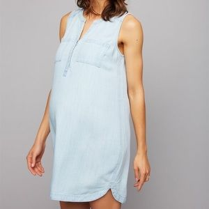 A Pea in The Pod Maternity Chambray Dress